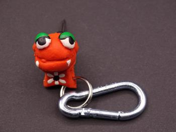 Sputzi Monster Kautschuk Flederfrosch orange